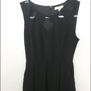 Speechless Black Mini Dress flared with pockets